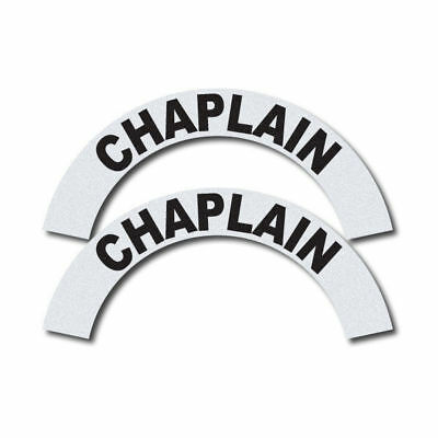 3M Reflective Fire/Rescue/EMS Helmet Crescents Decal set - Chaplain