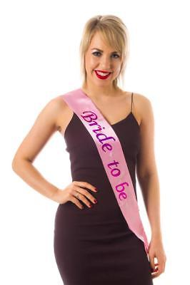 Sash Pink Flashing Bride to Be Hen Night Party Wearables