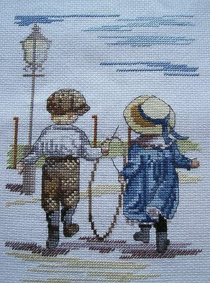 Completed Cross Stitch  -  All Our Yesterdays - Spinning Hoops