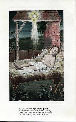 HARK THE TIDINGS ANGEL GIVEN c1905 POSTCARD EXC