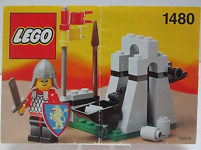 1991 LEGO # 1480 LEGO Catapult Instruction Manual, Replacement Booklet Only