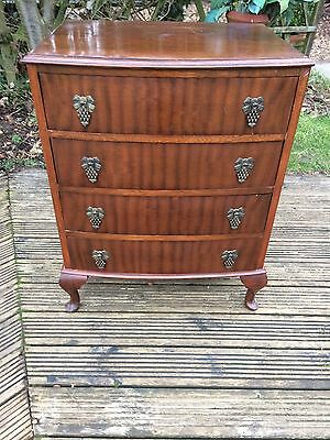 Antique vintage mahogany chest of drawers,