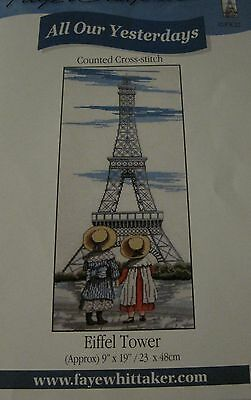 All Our Yesterdays Cross Stitch Chart - EIFFEL TOWER