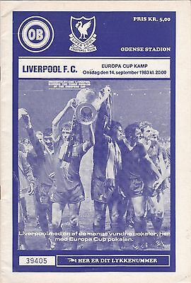 ODENSE BOLDCLUB v LIVERPOOL 1983/4, EUROPEAN CUP
