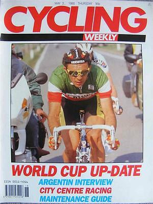 Cycling Weekly 1990, World Cup update, Argentin interview, City Centre Racing
