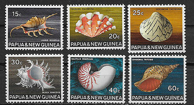Papua & New Guinea , 1968/69 , Clams , Set Of 6  Stamps ,  Perf, Mnh
