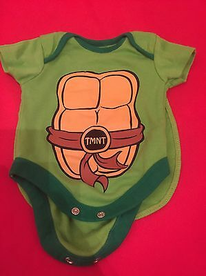 Baby Turtle Romper With Detachable Cape Age 0/3