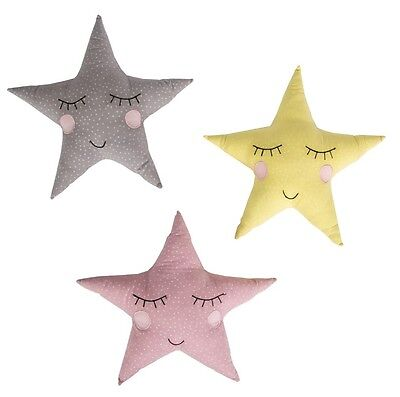 Polka Dot Pastel Star Mini Cushion Kids Children's Bedroom Nursery Sass & Belle
