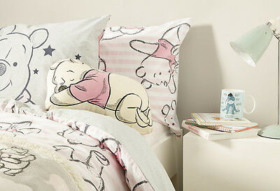 DISNEY WINNIE THE POOH Duvet Reversible Bed Set Primark SINGLE DOUBLE KING