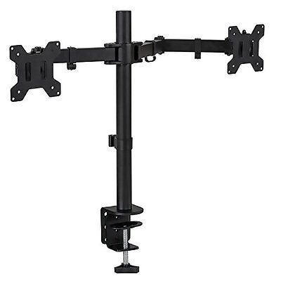Dual Monitor Heavy Duty Adjustable Desk Stand Mount for LCD Led Computer Screen