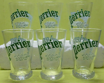 Lot De 6 Verres Perrier , Transparent, 37 Cl , Anniversaire 150 Ans , Vpr85 *