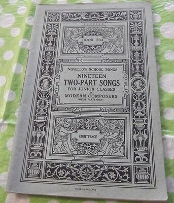 A Novello's Two-Part Songs Sheet Music Book 364