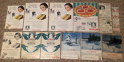Lot of 13 Snowdrift Wesson Oil Shortening Cooking Baking Vintage Food Print Ads
