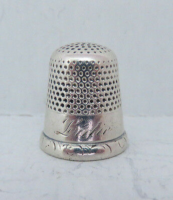 ANTIQUE STERLING SILVER KETCHAM & McDOUGALL THIMBLE SIZE 8