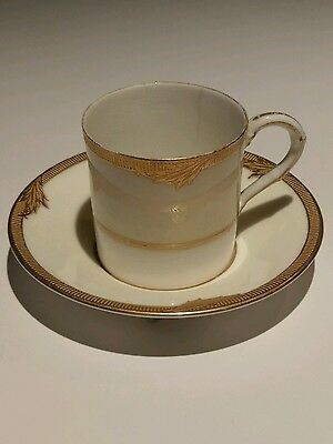 Royal worcester Coffee Cup and Saucer Dated 1921 and marked 771