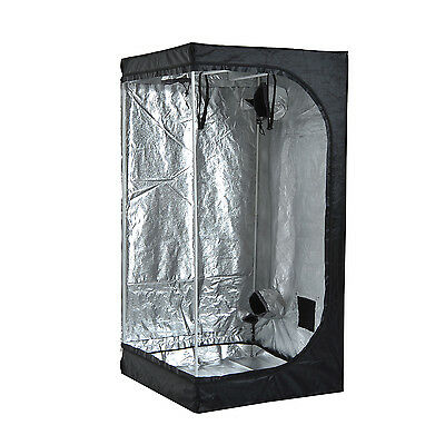 3.3' x 3.3' x 6.6' Oxford Mylar Hydroponics Grow Tent Reflective Room Grow Box