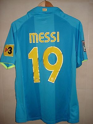 Football Shirt Fc Barcelona Barça Nike Patch Player Issue Messi Away Ready Match