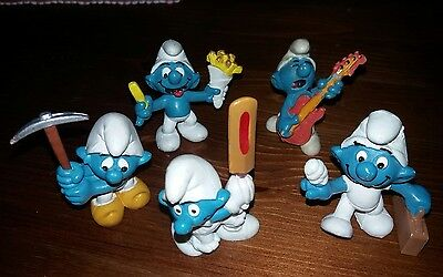 Smurf Figure Collection Cricket French Fries First Aid Orange Guitar Chain Gang