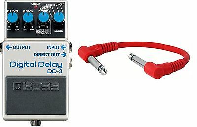 Boss DD-3 Digital Delay guitar Pedal dd3 -INCLUDING PATCH CABLE - New