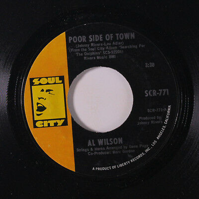 AL WILSON: Poor Side Of Town / The Dolphins 45 Soul