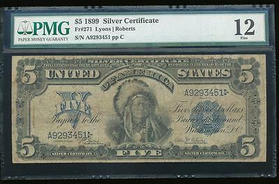 AC Fr 271 1899 $5 Silver Certificate PMG 12 CHIEF!!