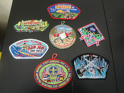 Boy Scouts Patch / Badge Misc Lot Of 7 Jamboree