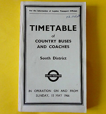 LONDON TRANSPORT S District 1966 TT COUNTRY BUSES