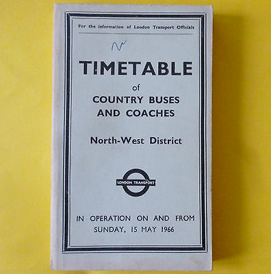 LONDON TRANSPORT NW District 1966 TT COUNTRY BUSES