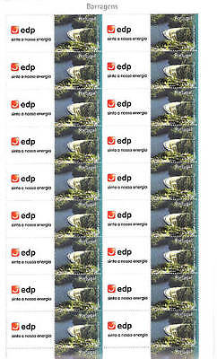 PORTUGAL  CORPORATE 2007 EDP Full perfect SHEET of 20 stamps+20 labels