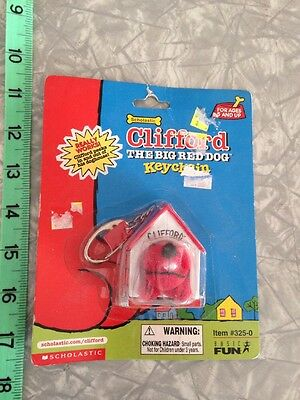 CLIFFORD THE BIG RED DOG KEYCHAIN key chain Basic Fun 2001 SIP Scholastic