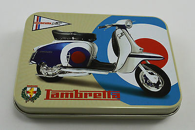 Collectable Lambretta Scooter Advertising Tin Garage/Workshop Tobacco NEW!!