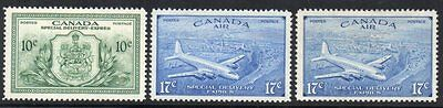 Canada: 1946 Special Delivery set (3) SG S15-17 mint