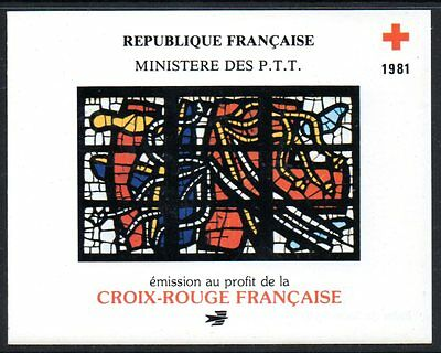 France: 1981 Red Cross booklet complete with stamps unused