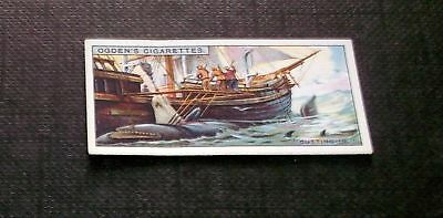 Ogden's Cigarette Card Whaling No.8 Cutting In
