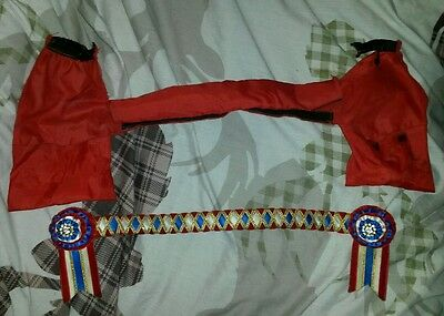 """15"""" cob size showing browband velvet and crystal plus cover"""