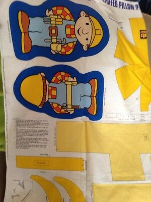 Bob The Builder Fabric Panel Stuffable Doll Tool Belt Hard Hat Cranston Print