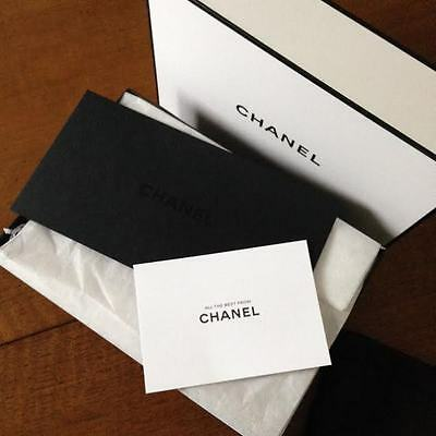 CHANEL Envelope in Black with Blank GIFT CARD. New!