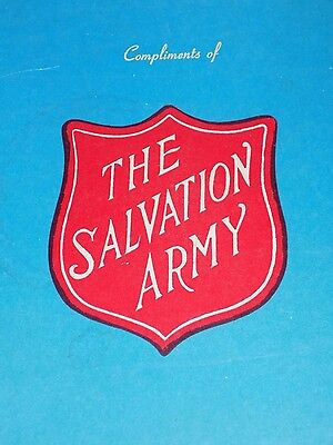 """Vtg AnTiQue """"The SALVATiON ARMY"""" GuesT Pac BOX 9"""" square cardBoard Mt. Vernon NY"""