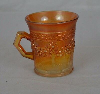 Vintage Fenton Marigold Carnival Glass Shaving Mug - Orange Tree Pattern