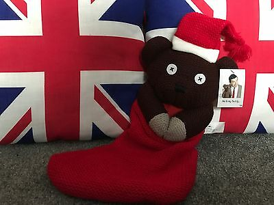 Mr Bean Teddy Christmas Stocking! Extremely Rare!!!