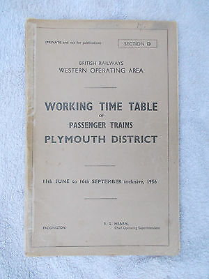 BR WR WTT, Sect D, Plymouth District, 11 Jun - 16 Sep 56