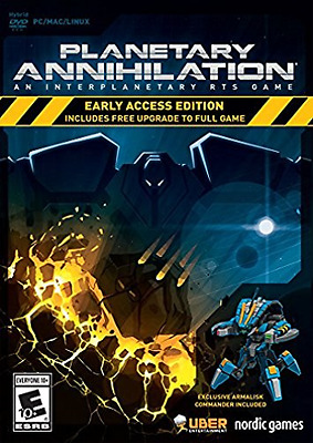 Planetary Annihilation Early Access Boxd  DVD NEW