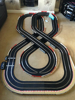 Scalextric Sport Large Layout with Double Flyover & Lap Counter & 2 Cars