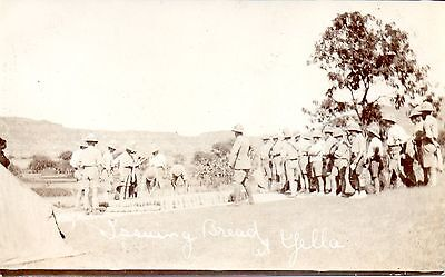 British Soldiers - Issuing Bread At Yella Ww1 Military Postcard Exc