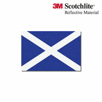 "3M Reflective Flag Decals - Scottish Flag - 1.5"" x 2.25"""