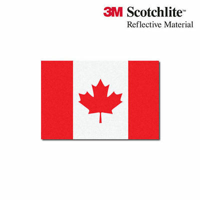 "3M Reflective Flag Decals - Canadian Flag - 1.5"" x 2.25"""