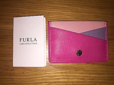 Furla Leather Card Holder - Sweet Pink Colour Bnwt