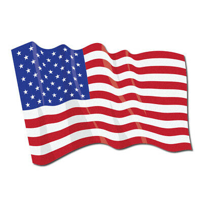 "3M Reflective Fire Helmet Flag Decal - Waving US Flag - 1.5"" x 2.5"""