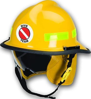 "3M Reflective 3"" Round Fire/Rescue/EMS Helmet Front Decal - Dive Team"