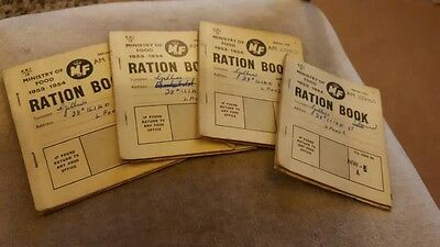Antique and Vintage Joblot of ration books, 8 x Post WWII